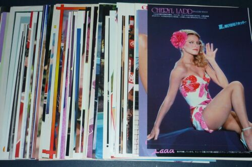 Lot of 71 CHERYL LADD 1970s/1980s Japan Picture Clippings with Posters