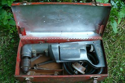 Milwaukee Heavy Duty 12 Inch S-412 Right Angle Drill W Bits And Case Vintage