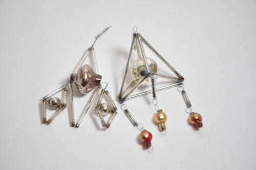 Vintage christmas ornament glass Soviet Russia USSR BUGLE BEADS