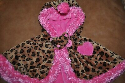 Best Ever Costumes (Toddler Girls Hooded Cape Cloak Wrap Costume Dress Up Cheetah Pink)