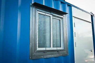 Cargo Container 3 X 3 Security Window - Steel Mesh - Ez Install - Free Shipping