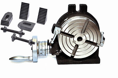 "6/"" Precision HV6-4 Slots Rotary Table with M8 Clamp Kit for Milling 150 mm"