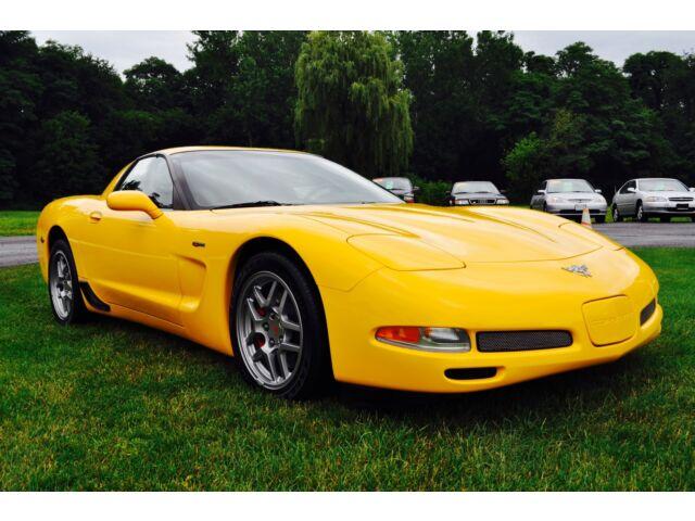 2003 yellow corvette z06 for sale glenmont new york dealer. Black Bedroom Furniture Sets. Home Design Ideas