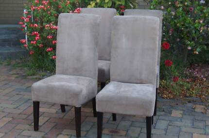4 x HIGH BACK DINING CHAIRS