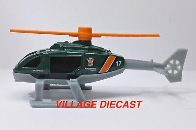 """2018 Matchbox """"Wildfire Rescue"""" Rescue Helicopter GREEN / NATIONAL PARK / MINT"""