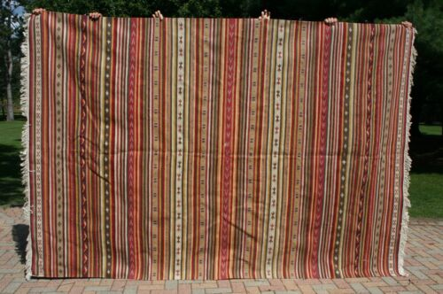 Antique Hand Woven WOOL Loom Rug   Native American