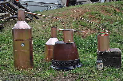10 Gallon Copper MOONSHINE Still + Worm -FREE RECIPES! FULL KIT