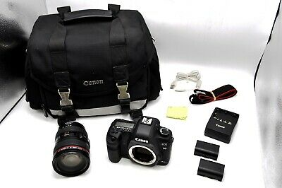Canon EOS 5D Mark II 21MP Camera Kit w/ EF 24-105mm F/4l IS USM Lens 8448 Counts