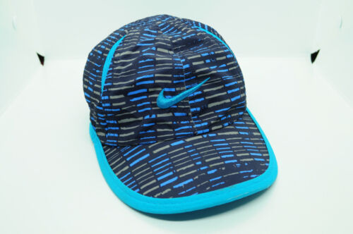 Blue Patterned Nike Dri-Fit Embroidered Logo Strapback Hat Cap Toddler Baby Size