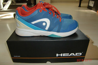 HEAD Nitro Team Tennisschuhe Sportschuhe Gr. 40,5 UK 7 US 8 blau orange Junior - Team Orange Schuhe