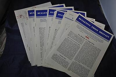 1941 *ORIGINAL* Bulletins from Britain - Twelve Different