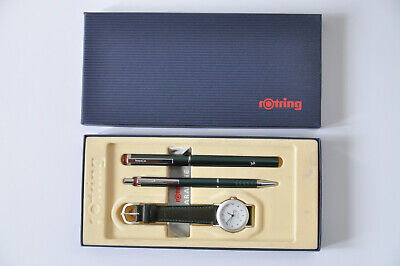 Rotring ESPRIT Set Green Pen Ballpoint Watch COLLECTABLE