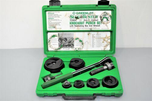 Greenlee Textron 7238SB Slug-Buster Knockout Punch & Die Set Ratchet Wrench