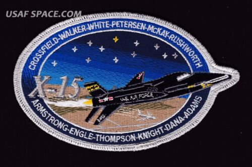 "Authentic- X 15 -COMMEMORATIVE 6"" TIM GAGNON ARMSTRONG USAF NASA SPACE PATCH"