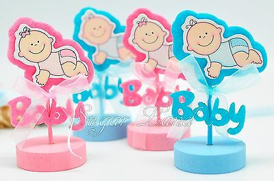 12 Baby Shower Decorations Favors Card Holders Gifts Supplies Girl Boy Pink - Girl Baby Shower Gifts