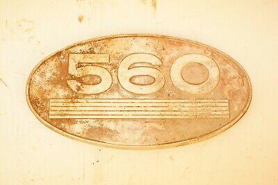 Original International Harvester Farmall 560 Gas Aluminum Side Emblem Ih Tractor