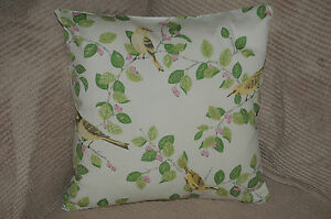 Laura Ashley Aviary Garden Apple Green Fabric Cushion Cover with Zip Reversible