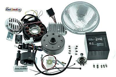 Umrüstsatz Zündung Powerdynamo/Vape passend für MZ ES250/2 mit Reflektor H4 12V