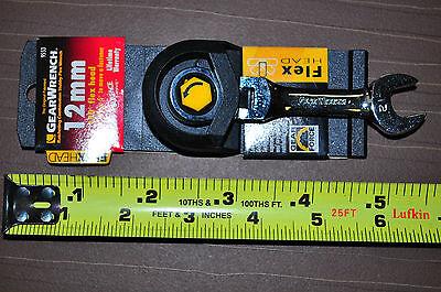 12 mm Flex Head Stubby Short Gear Ratcheting Wrench Original Gearwrench  KD 9553 ()