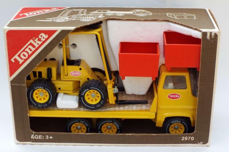 Tonka #2970 Material Construction Truck Fork Lift Playset Rare Unused NIB 1970s