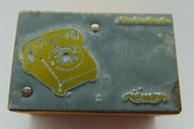 Vintage Printing Letterpress Printers Block Old Time Phone