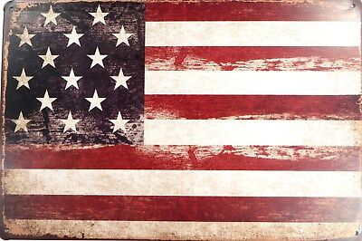 (US SELLER, outdoor metal signs USA American Flag patriotic metal tin sign)