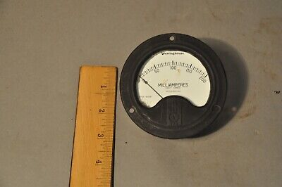 Vintage Westinghouse Nx-35 Electrical Panel Meter Gauge 0-200 Milliamperes Dc