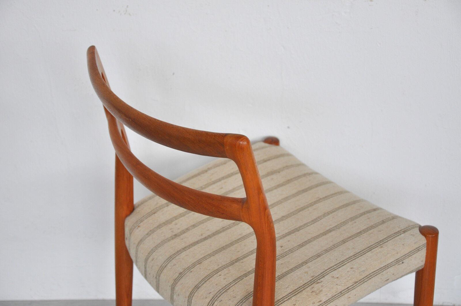 50er 60er Teak St Hle Chair Stuhl Niels M Ller Moeller