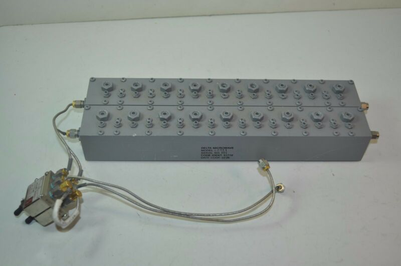 Delta Microwave Bandpass Filter Pair Model# L2911 with RLC SM-2 Switches