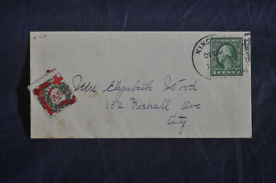 1915 WX16 Christmas Seal on COVER