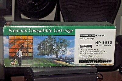 Premium for HP Q2612A (12A) Black Toner Cartridge Q2612A LaserJet 1010 3055 OS for sale  Shipping to India