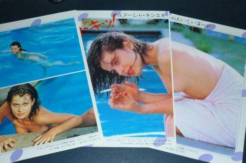 NASTASSJA KINSKI nude 1982 Japan Picture Clipping 3-SHEETS(4pgs) uc/o