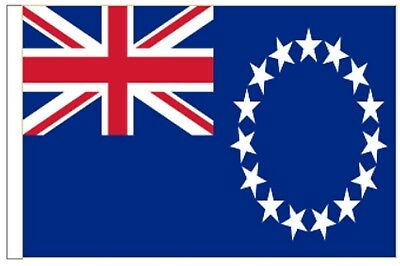 New Zealand Cook Islands Sleeved Courtesy Flag ideal for Boats 45cm x 30cm