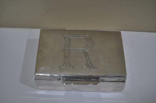 Antique 900 SILVER Tobacco Box