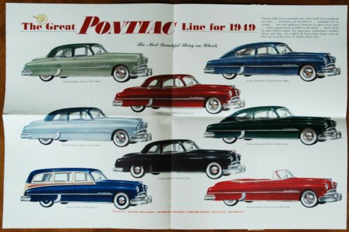 Pontiac mailer brochure Prospekt, 1949