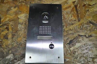 AIPHONE IS-DVF FLUSH MOUNT VIDEO DOOR STATION W/STANDARD CALL BUTTON USED