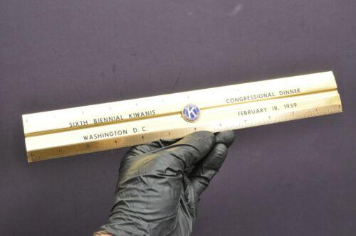 Vintage 1959 Kiwanis International Washington DC Gold Metal Ruler Enamel Emblem