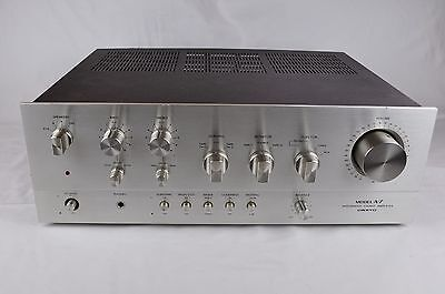 Vintage ONKYO A-7 A7 Integrated Stereo Amplifier- Silver Face for Parts/Repair