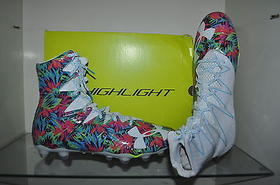 63a9c2a05 Under Armour Mens Highlight MC Limited Edition Football Cleats  White Lime Blue
