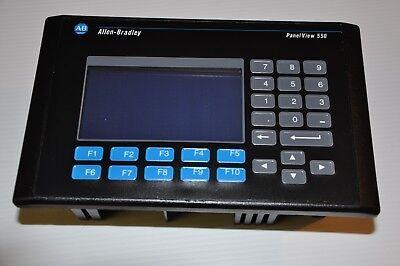 Allen Bradley 2711-b5a1 Ser H Frn 4.20 Panelview 550 Keypad Touchscreen Hmi
