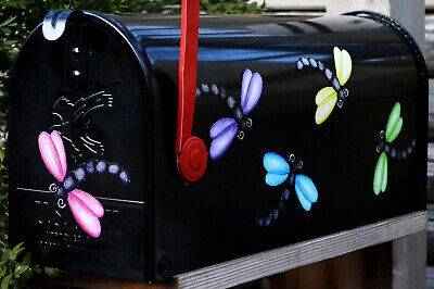 Mailbox Magnet Partial Cover Colorful Dragonfly Set of 5 Door Car Curb Appeal -