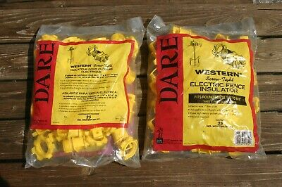 Dare Western Electric Fence Insulators - For Fiberglass Or Steel Posts Rp25 X2