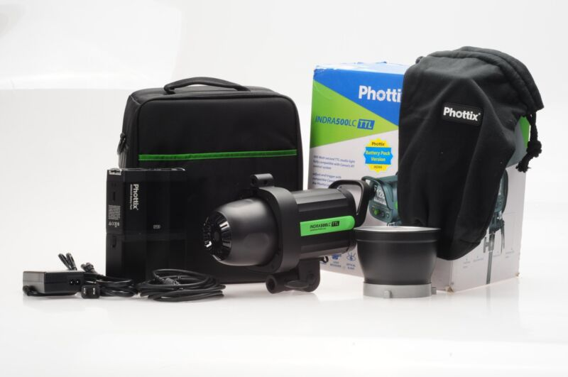 Phottix Indra500LC TTL Battery Powered Studio Light Kit #01J