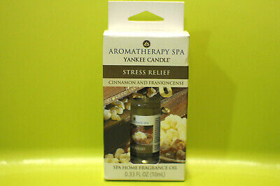 Yankee Aromatherapy Spa Stress Relief Home Fragrance Oil Cinnamon Frankincense