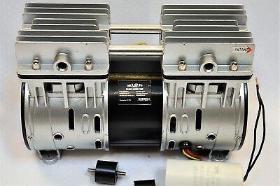 Twin Piston Oil-less Dry Run Vacuum Pumpcompressor 5cfm Epoxy Cnc Table Medical