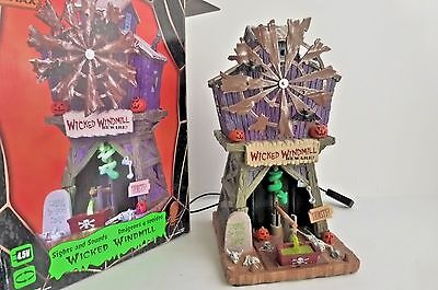 Lemax Spooky Town Wicked Windmill with Sights Animated