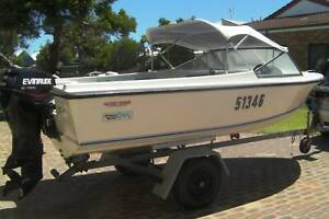 VOYAGER F/G BOAT WITH 60 HP OUTBOARD - FIRST TO SEE WILL BUY