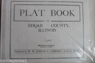 GENEALOGY ILLINOIS EDGAR COUNTY PLAT MAP pre-1940
