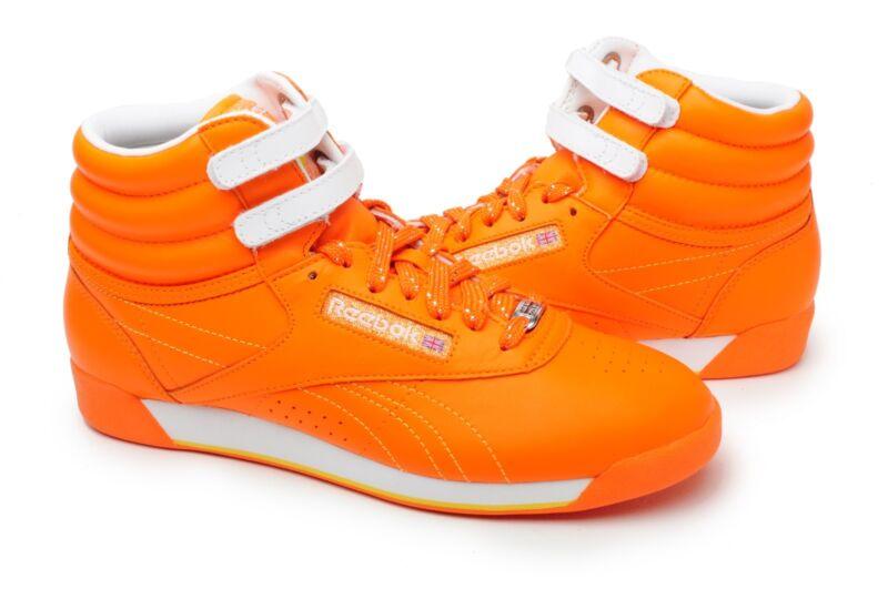 5bb6cc19e6d Reebok Women Shoes Freestyle HI top 32-953315 Orange