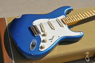 Unplayed Fender Custom Shop 58 Stratocaster Relic - Lake Placid Blue - 10/56 Nec